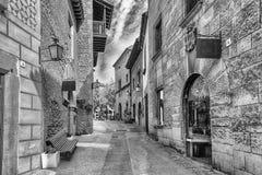 Φυσική αλέα μέσα σε Poble Espanyol, Βαρκελώνη, Καταλωνία, Ισπανία Στοκ Εικόνα