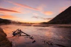 Φυσική ανατολή ποταμών του Μάντισον Στοκ Φωτογραφίες