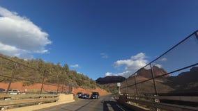 Φυσική διαδρομή 89a Drive από Sedona Flagstaff απόθεμα βίντεο