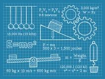 Φυσική, επιστήμη, σχολείο, σχεδιάγραμμα διανυσματική απεικόνιση