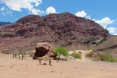 Φυσική επιφύλαξη Quebrada de las Conchas EN Αργεντινή, ο βράχος & x22 EL sapo& x22 , διαμορφωμένος όπως έναν βάτραχο στοκ εικόνα