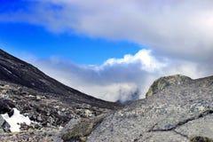 Φυσική θέα βουνού Himalayan στο βόρειο Sikkim, Ινδία Στοκ Φωτογραφίες