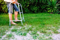 Φυσική θεραπεία με την κατάρτιση περπατήματος στοκ φωτογραφία