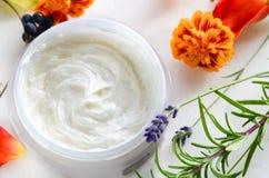 Φυσική κρέμα για τη φροντίδα δέρματος στοκ φωτογραφία με δικαίωμα ελεύθερης χρήσης