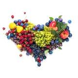 Φυσική μορφής υγιής έννοια φρούτων καρδιών οργανική Στοκ Εικόνες