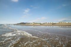 Φυσική παραλιακή πόλη στη μέση Ουαλία, UK στοκ φωτογραφία