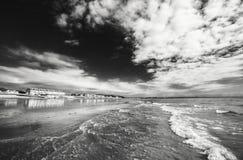 Φυσική παραλιακή πόλη στη μέση Ουαλία, UK στοκ φωτογραφία με δικαίωμα ελεύθερης χρήσης