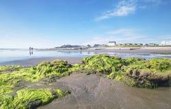 Φυσική παραλιακή πόλη στη μέση Ουαλία, UK στοκ εικόνες με δικαίωμα ελεύθερης χρήσης