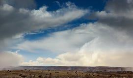 Φυσική περιοχή στα βουνά, τοπίο Νέων Μεξικό με το χιόνι στοκ εικόνα με δικαίωμα ελεύθερης χρήσης