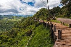 Φυσική περιοχή στην κορυφή των βουνών Baan Ja BO Γιος της Mae Hong Τ Στοκ εικόνες με δικαίωμα ελεύθερης χρήσης