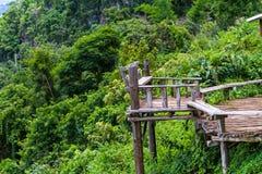 Φυσική περιοχή στην κορυφή των βουνών Baan Ja BO Γιος της Mae Hong Τ Στοκ φωτογραφία με δικαίωμα ελεύθερης χρήσης