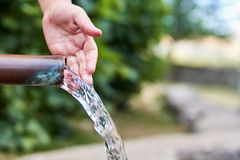 Φυσική πηγή νερού στοκ φωτογραφίες