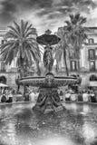 Φυσική πηγή σε Placa Reial, Βαρκελώνη, Καταλωνία, Ισπανία Στοκ Εικόνα