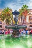 Φυσική πηγή σε Placa Reial, Βαρκελώνη, Καταλωνία, Ισπανία Στοκ Εικόνες