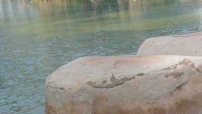 Φυσική πισίνα με το μπλε νερό φιλμ μικρού μήκους