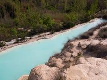 Φυσική πισίνα με το νερό θερμών πηγών στοκ εικόνες με δικαίωμα ελεύθερης χρήσης