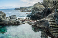 Φυσική πισίνα Charco de Λα Laja, στο βόρειο τμήμα Tenerife Στοκ Εικόνες