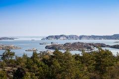 φυσική σουηδική όψη ακτών Στοκ Εικόνες