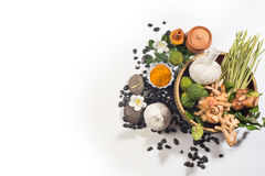Φυσική σφαίρα μασάζ χορταριών θεραπείας αρώματος Στοκ Εικόνες