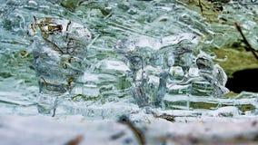 φυσική σύσταση της Σιβηρίας ποταμών ob Ιανουαρίου πάγου του 2007 Τη νύχτα υπήρξε μια αυστηρή φύση παγετού σύρει Απλές συστάσεις γ στοκ εικόνες