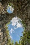 Φυσική φυσική γέφυρα φαινομένων καρστ στο εθνικό πάρκο Rakov Skocjan στη Σλοβενία Στοκ Εικόνες