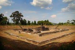 φυσική όψη ναών sambisari στοκ φωτογραφία