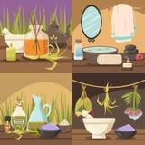 Φυσική Cosmetology 2x2 έννοια σχεδίου Στοκ Φωτογραφία