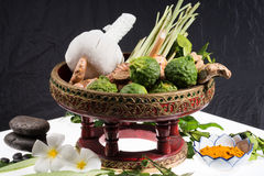 Φυσική herb spa θεραπεία σφαιρών μασάζ Στοκ Εικόνες