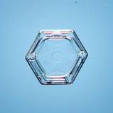 Φυσική snowflake μακροεντολή Στοκ Φωτογραφίες