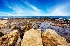 Φυσικοί βράχοι στο νησί της Κρήτης Στοκ Φωτογραφία