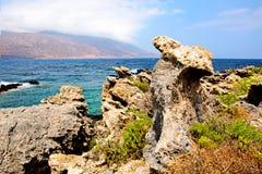 Φυσικοί βράχοι στο νησί της Κρήτης Στοκ εικόνες με δικαίωμα ελεύθερης χρήσης