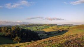 Φυσικοί πράσινοι λόφοι της βρετανικής επαρχίας απόθεμα βίντεο