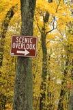 Φυσικός αγνοήστε το σημάδι στο δάσος στο Ουισκόνσιν Στοκ Φωτογραφία