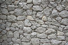 Φυσικός γκρίζος τοίχος πετρών Στοκ Εικόνες