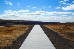 Φυσικός ξύλινος δρόμος Στοκ φωτογραφία με δικαίωμα ελεύθερης χρήσης
