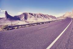 Φυσικός ορεινός δρόμος, ΗΠΑ Στοκ Εικόνες