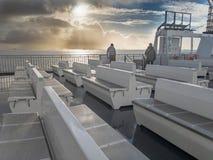 Φυσικός ουρανός πέρα από τη Βόρεια Θάλασσα από το πορθμείο στοκ εικόνες με δικαίωμα ελεύθερης χρήσης