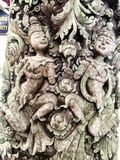 Φυσικός παλαιός ξύλινος τρόπος ζωής Ταϊλάνδη πόθου τέχνης σχεδίου Στοκ Εικόνα