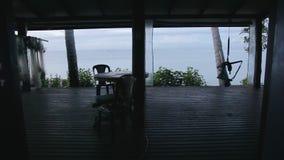 Φυσικός πυροβολισμός beachfront απόθεμα βίντεο
