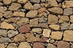φυσικός τοίχος πετρών ανα& Σύσταση ενός τοίχου πετρών στοκ φωτογραφίες