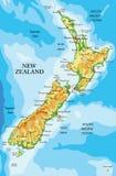 Φυσικός χάρτης της Νέας Ζηλανδίας Στοκ φωτογραφία με δικαίωμα ελεύθερης χρήσης