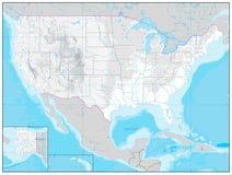 Φυσικός χάρτης των ΗΠΑ κανένα κείμενο Στοκ εικόνα με δικαίωμα ελεύθερης χρήσης