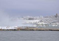 φυσικός χειμώνας niagara πτώσεω Στοκ Εικόνες