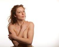 Φυσικός Nude Redhead Στοκ εικόνα με δικαίωμα ελεύθερης χρήσης