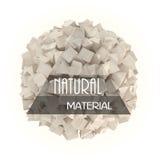 Φυσικό έμβλημα υλικών Στοκ εικόνα με δικαίωμα ελεύθερης χρήσης