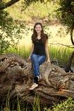 φυσικό δέντρο συνεδρίαση& στοκ εικόνα με δικαίωμα ελεύθερης χρήσης