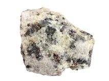 Φυσικό δείγμα κρυστάλλινο Apatite σε ένα άσπρο υπόβαθρο Στοκ Εικόνα
