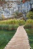 Φυσικό εθνικό πάρκο λιμνών Plitvice στην Κροατία Στοκ Εικόνες