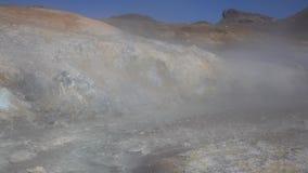 Φυσικό ηφαιστειακό τοπίο της χερσονήσου Καμτσάτκα, επιθετικά καυτά ελατήρια απόθεμα βίντεο