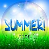 φυσικό καλοκαίρι ανασκό&pi Στοκ Εικόνες